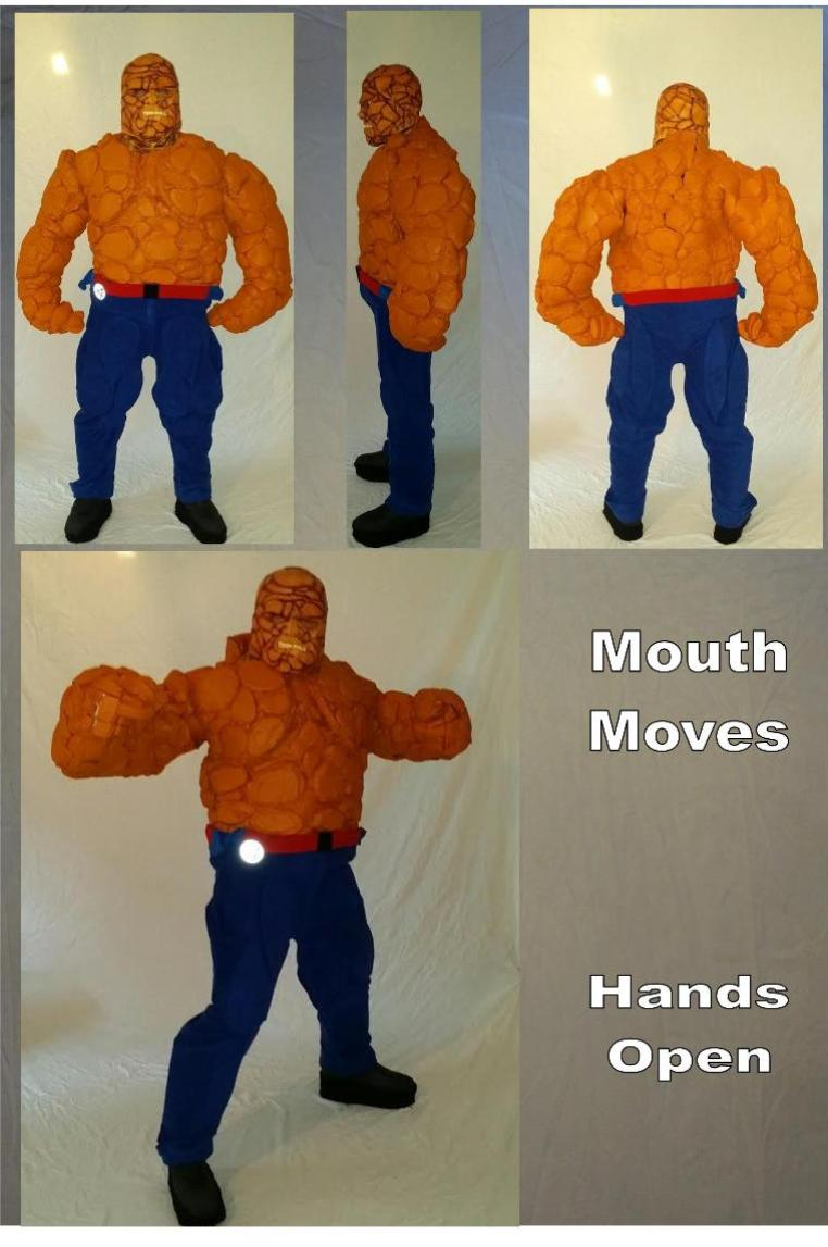 The Thing (from the fantastic 4) character costume rental in Houston, Texas.