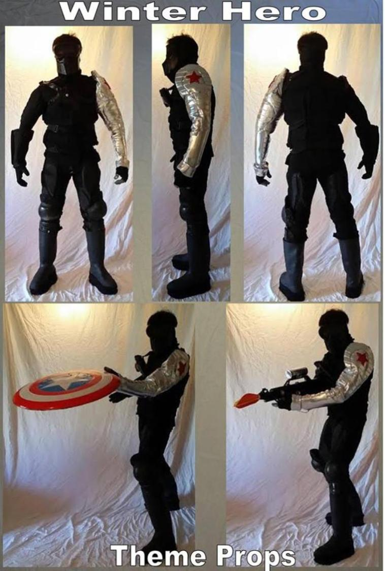 Rent a Winter solder ( from Captain America) character costume rental in Houston, Texas.