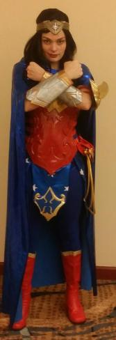 Wonder woman super hero costumed character rental for a kids party in Houston, Texas.